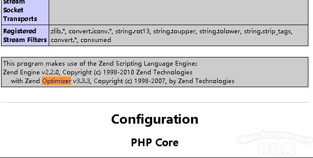 php的zend optimizer
